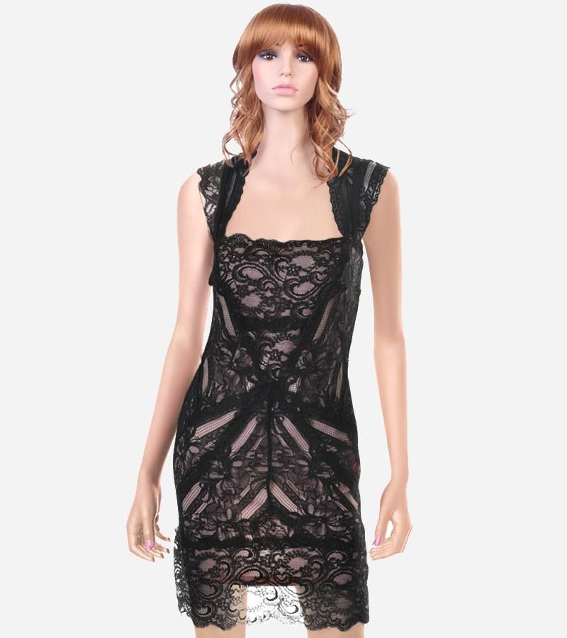 Black Lace Cocktail Dress Picture Collection