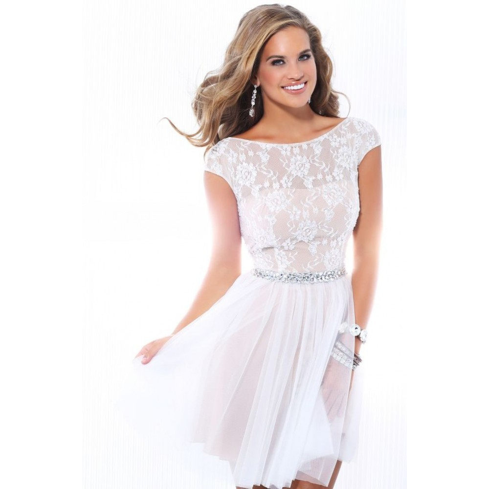 White Lace Cocktail Dress Picture Collection
