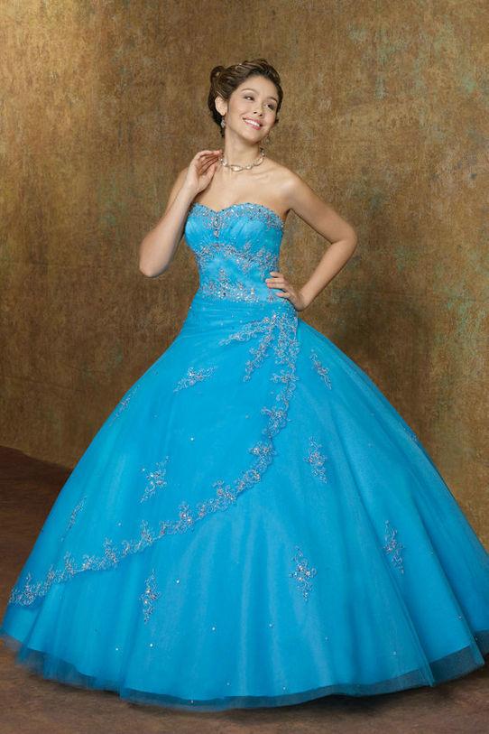 Birthday 15 Dresses Aqua