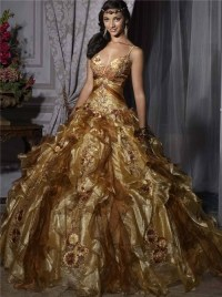 Gold Quinceanera Dresses | Dressed Up Girl