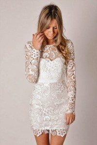 Long Sleeve Lace Wedding Dress | Dressed Up Girl