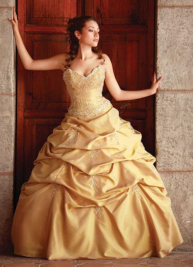 Gold Quinceanera Dresses | DressedUpGirl.com