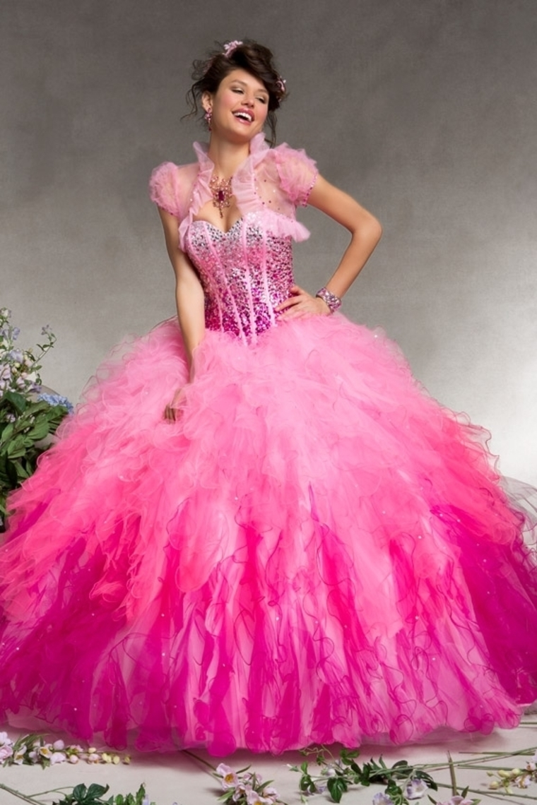 Pink Quinceanera Dresses Picture Collection