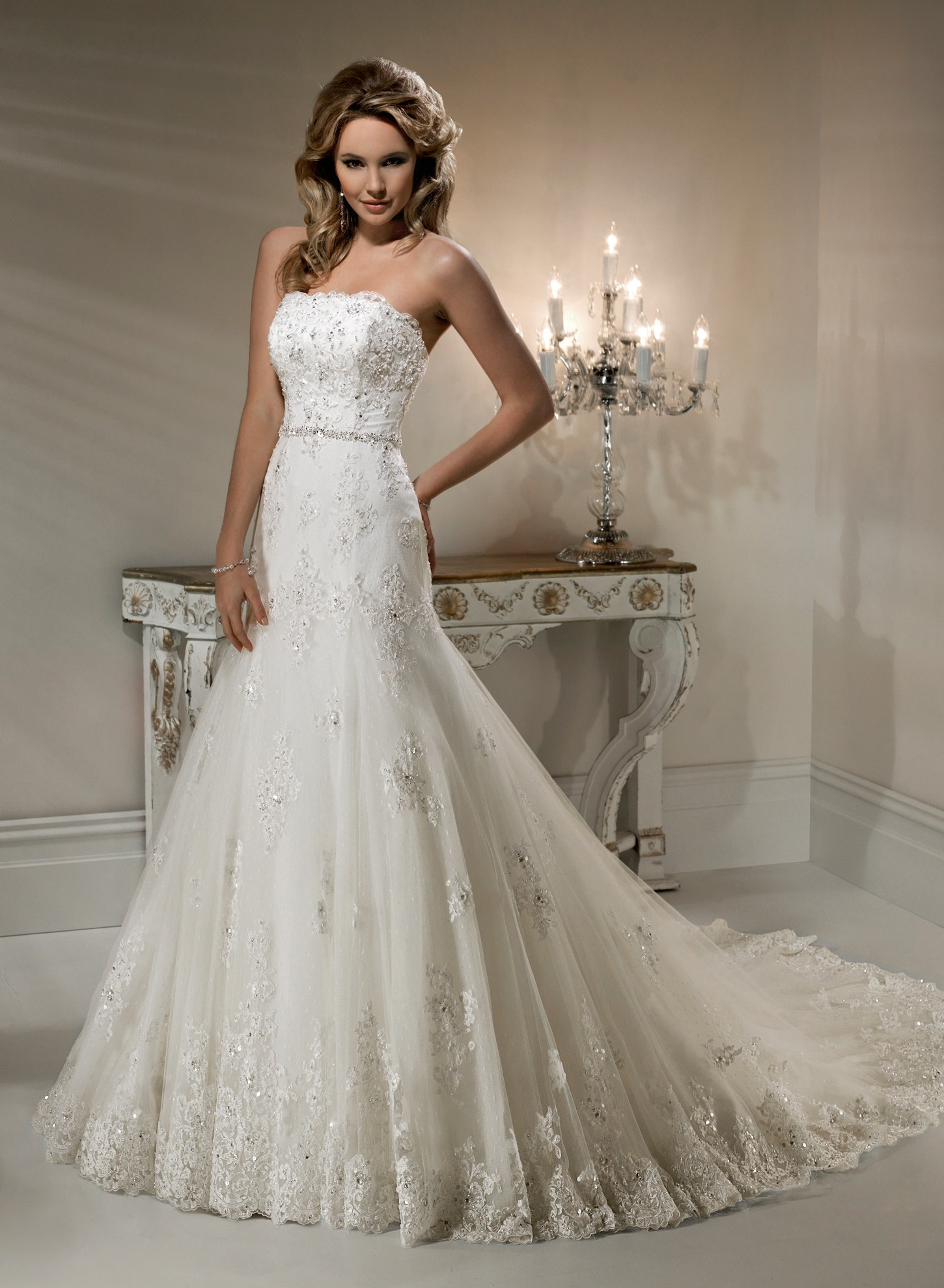 Lace Wedding Dress  DressedUpGirlcom