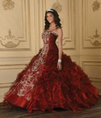 Red Quinceanera Dresses Picture Collection | Dressed Up Girl