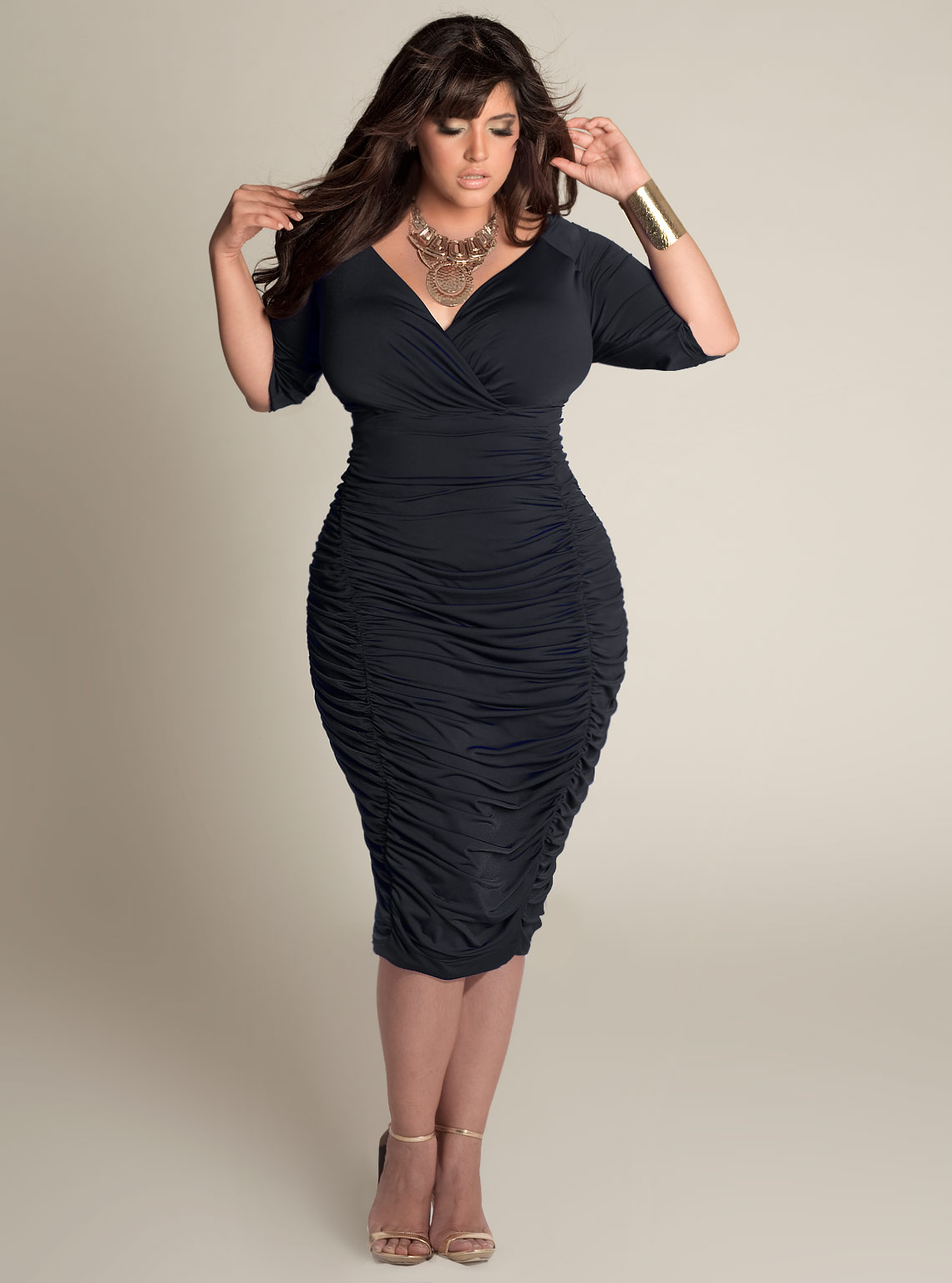 Plus Size Black Dresses  DressedUpGirlcom