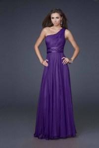 One Shoulder Purple Bridesmaid Dresses | www.imgkid.com ...
