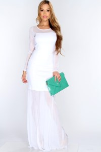 Long White Maxi Dress | Dressed Up Girl