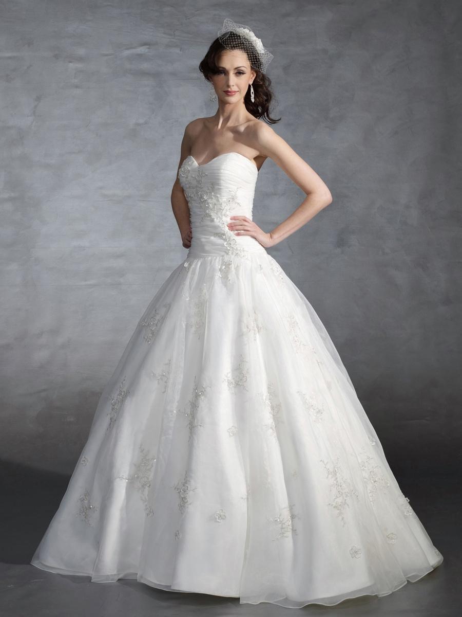 Drop Waist Wedding Gowns