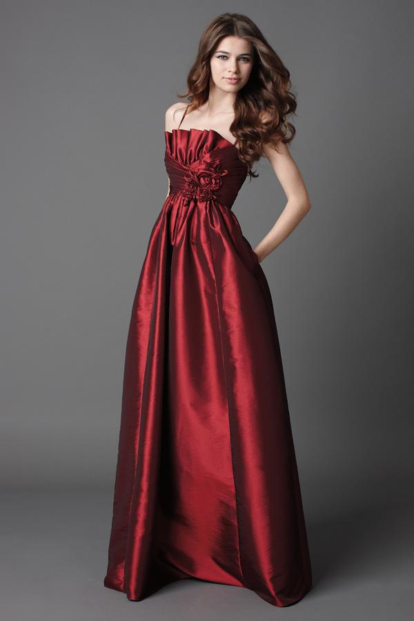 Burgundy Gown Dressed Up Girl