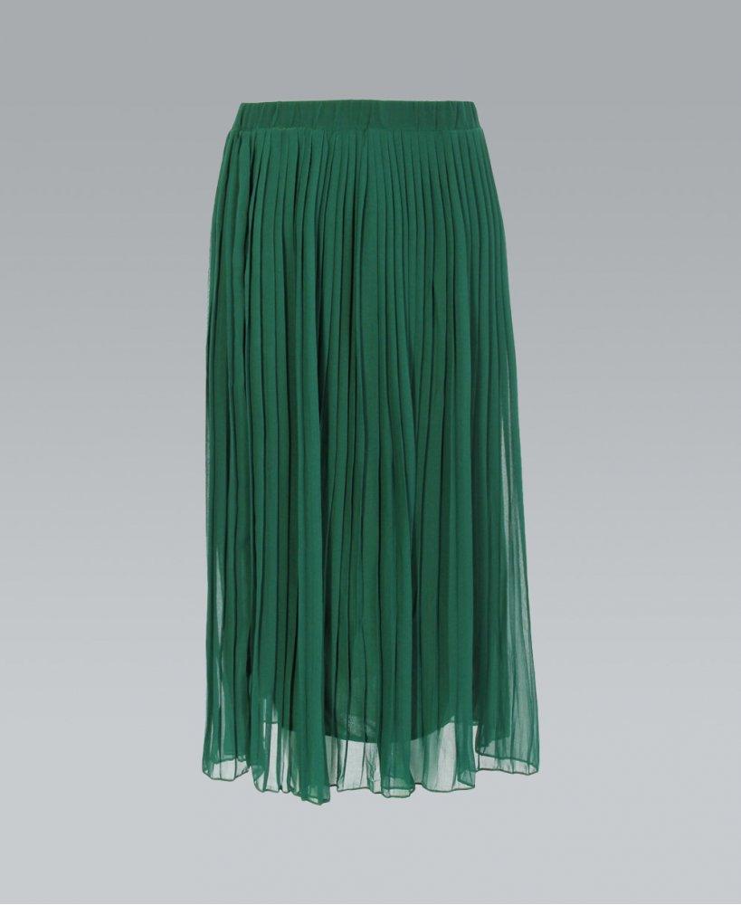 Green Skirt Dressed Up Girl