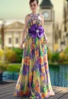 Long Floral Evening Dresses