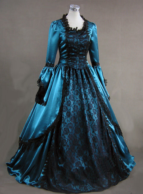 Victorian Gowns Dressed Up Girl