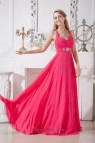 Hot Pink Halter Beading Prom Dress In 2014