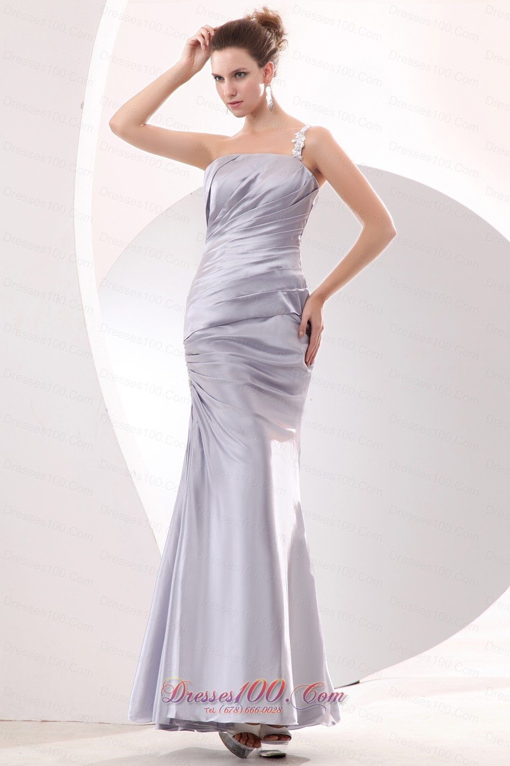Silver Column Prom Evening Discounted Dress
