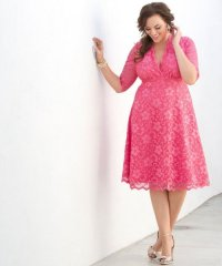 10 Short Plus Size Mother Of The Bride Dresses With Sleeves