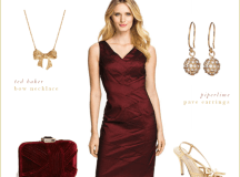 Burgundy Dress for Wedding | Holiday Winter Wedding Look
