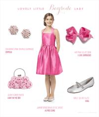 Hot Pink Junior Bridesmaid Dress
