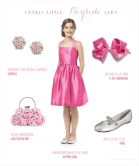 Hot Pink Junior Bridesmaid Dress