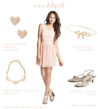 Blush Dress for a Junior Bridesmaid