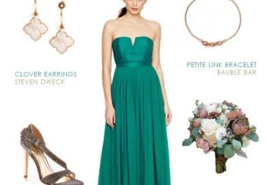 How To Accessorize A Teal Dress