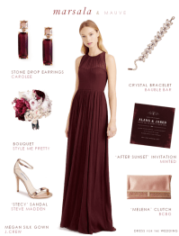 Marsala Bridesmaid Dress