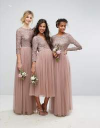 Beaded, Metallic, and Sequined Bridesmaid Dresses