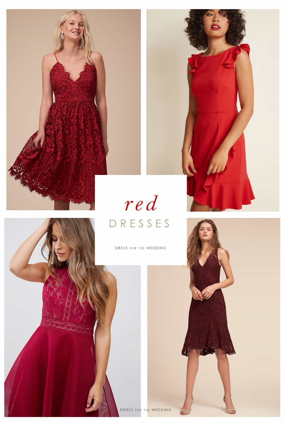 Red Dresses Cute Red Dresses To Wear To A Wedding
