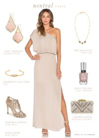 Neutral Maxi Dress | Dress for the Wedding