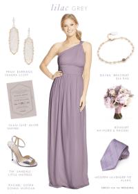 Lilac Gray Bridesmaid Dresses