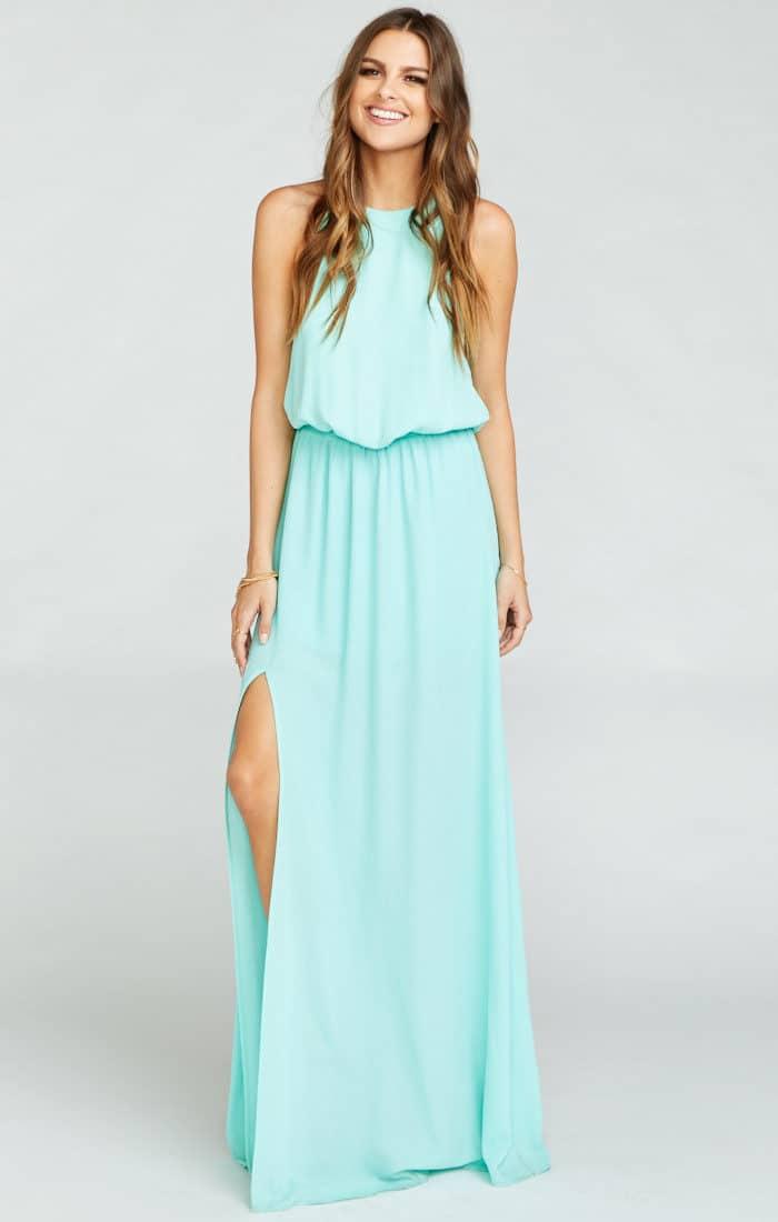 Seaglass Bridesmaid Dress