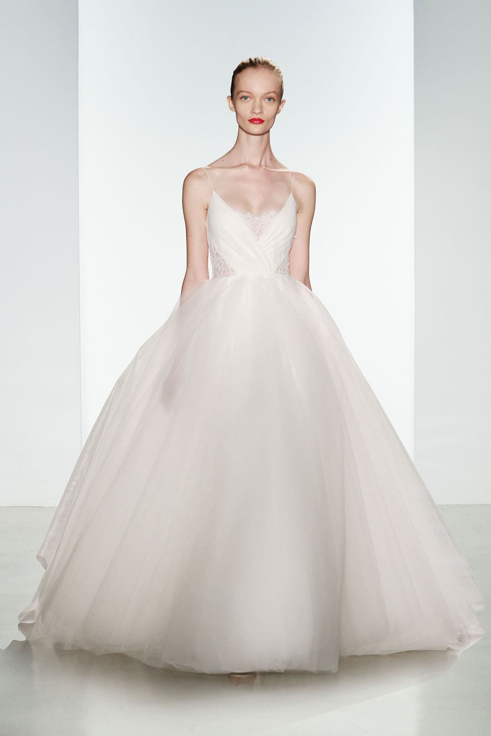 Penny by Christos  Tulle Ballgown Wedding Dress