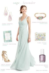 Sage Green and Lavender for Bridesmaids | Dress for the ...