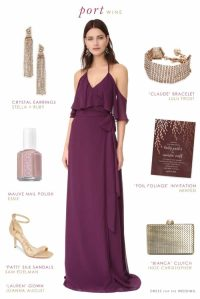 Long Wine Colored Bridesmaid Dress | Dress for the Wedding