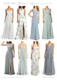 Light Blue, Floral, and Sage Green Mix and Match ...
