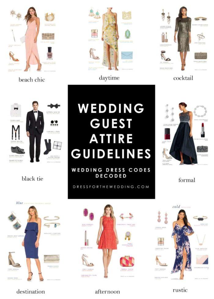 Wedding Guest Attire Guidelines | Wedding Dress Codes