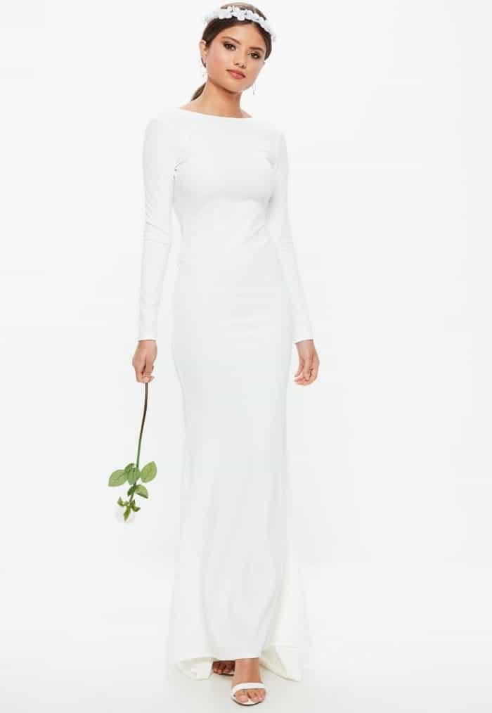 Simple Long Sleeved Wedding Dresses Like Meghan Markles