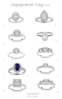 Engagement Ring Picks for the Season | Dress for the Wedding