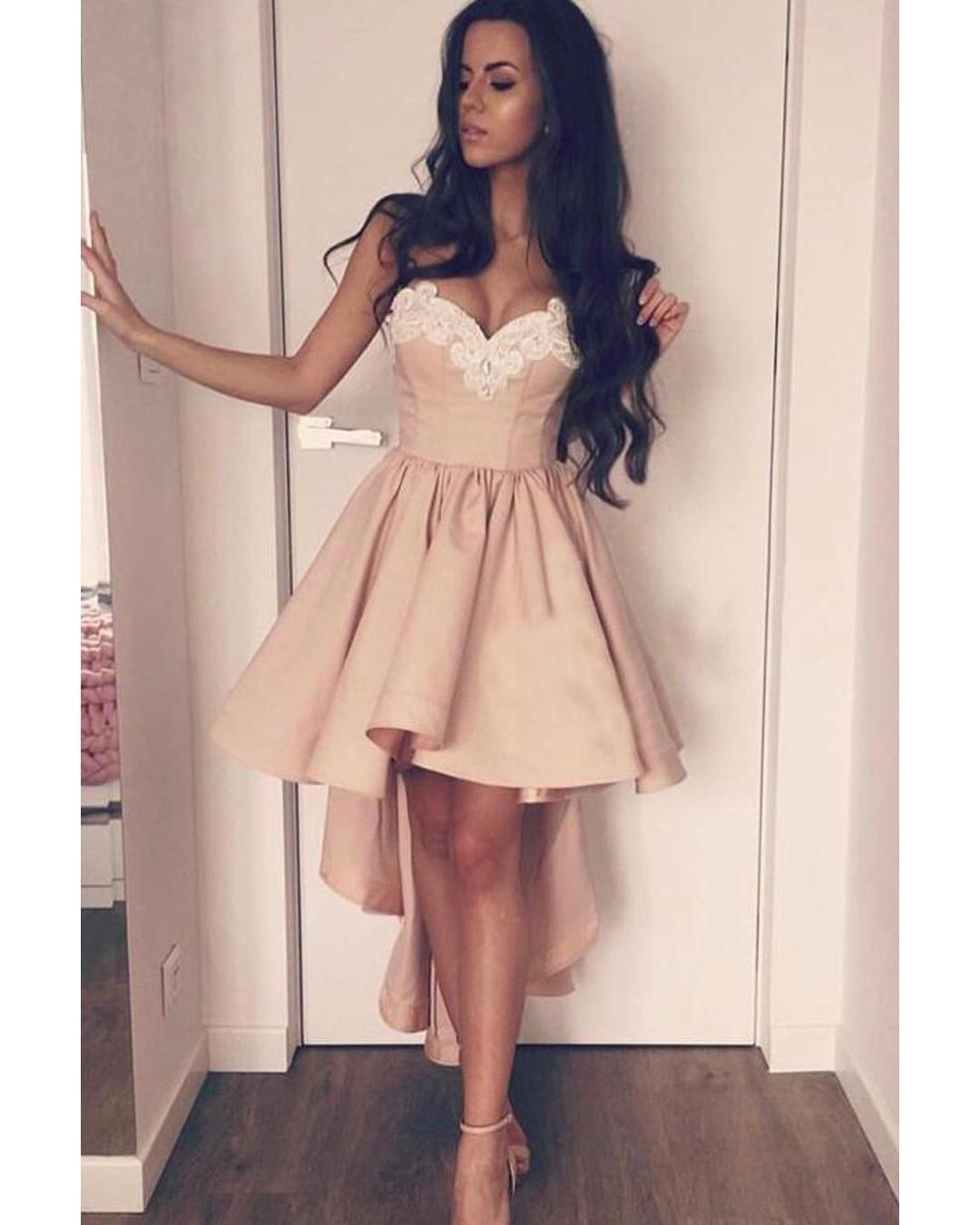 Short Lace Prom Dresses
