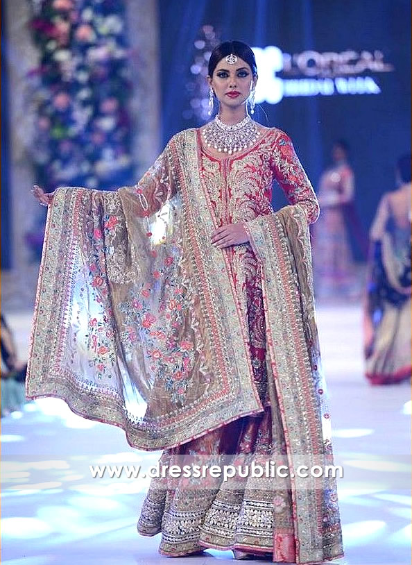 Wine Red Bridal Sharara