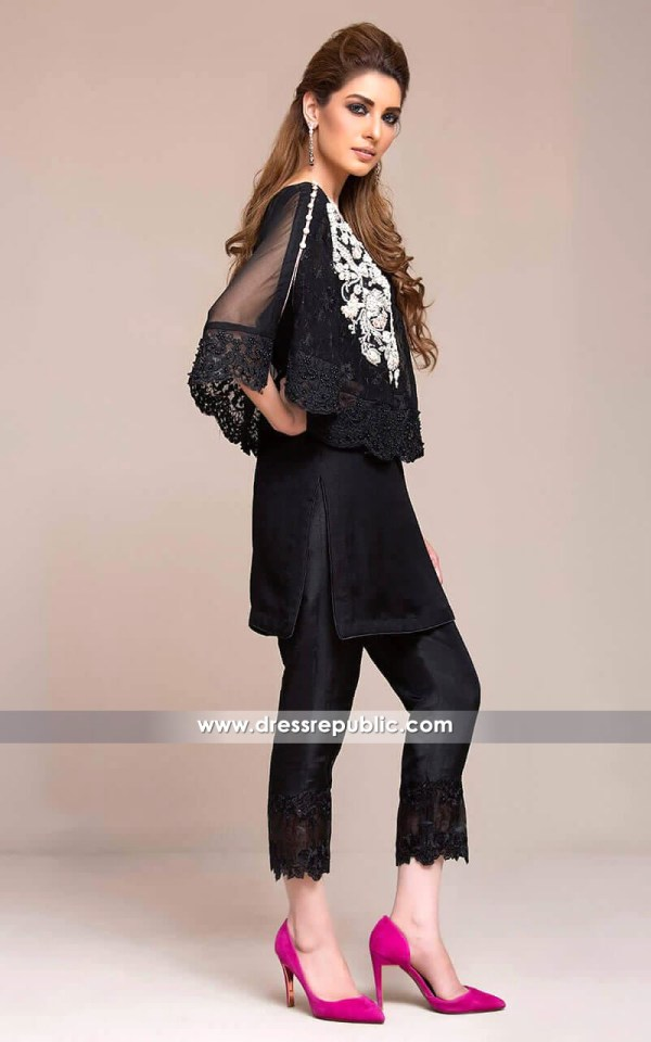 DR14134 - Black Cape Dress