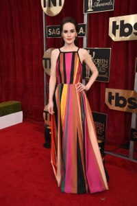 Michelle Dockery in Elie Saab at the SAG Awards 2017