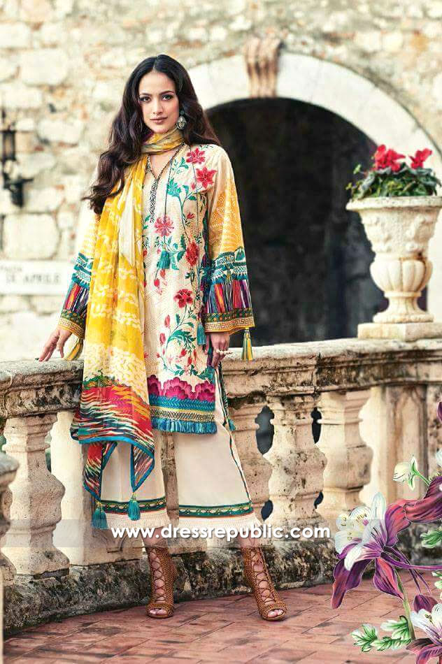 DRP6239 - Faraz Manan Lawn 2017 Collection