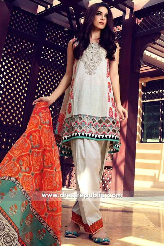 DRP6318 - Maria B Embroidered Lawn Dresses 2017