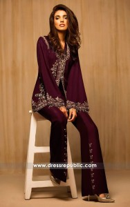 dr14168 - Berry Naples Designer Jacket with Bell Bottoms