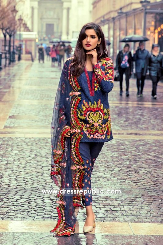DRP6540 - Mina Hasan Embroidered Lawn 2017