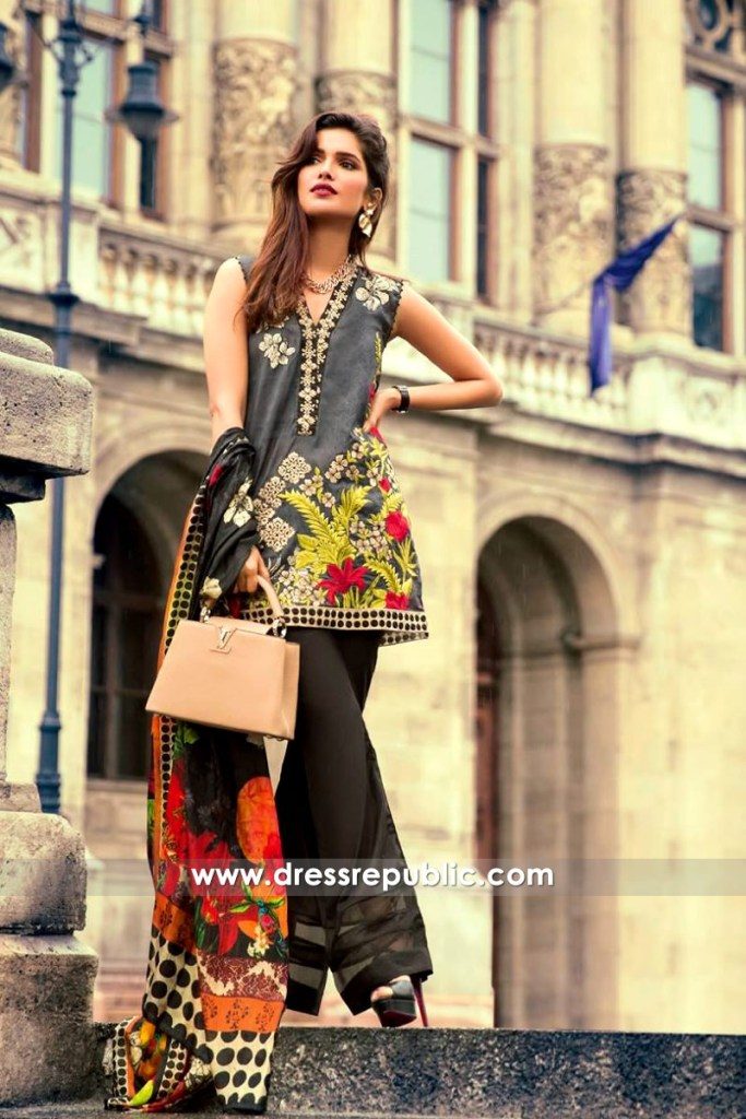 DRP6548 - Mina Hasan Embroidered Lawn 2017