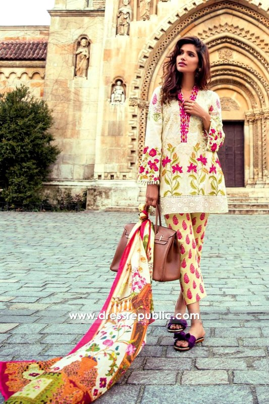 DRP6549 - Mina Hasan Embroidered Lawn 2017