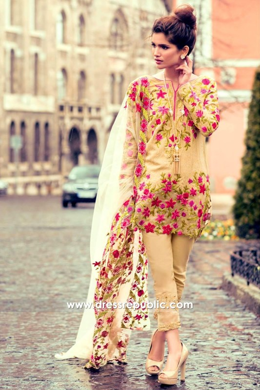 DRP6556 - Mina Hasan Embroidered Lawn 2017