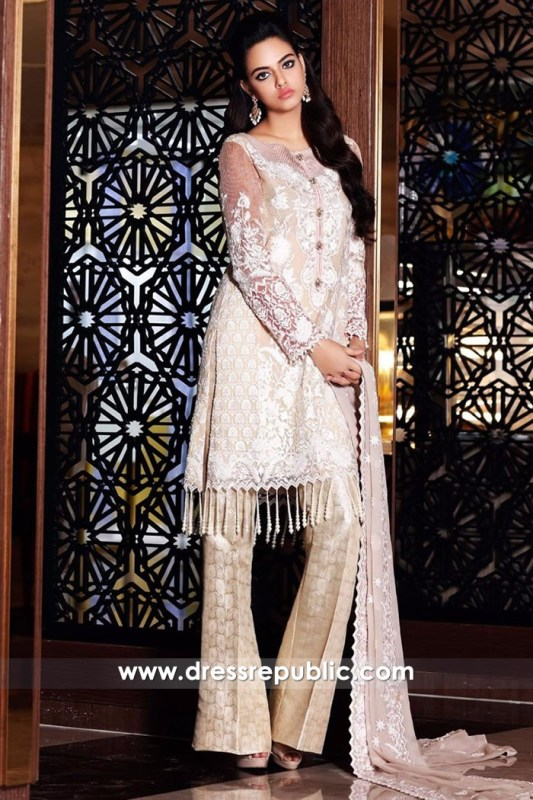 DRP6703 - Nomi Ansari Embroidered Chiffon 2017